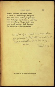 Aurora Leigh, annotated by Thomas Carlyle